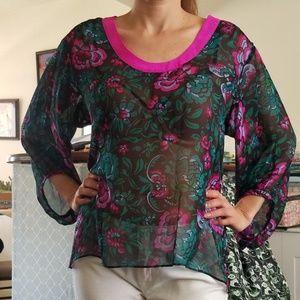 Nanette Lepore Silk Top Size Small